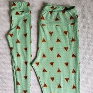 Lularoe Mommy and Me Sail Boat Leggings